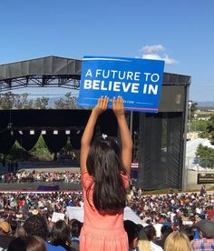 On a gorgeous California evening, 20,000 people heard all about a future to believe in. #StillSanders 5/25/16