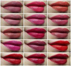 Piękna Nastolatka: Golden Rose Velvet Matte Lipstick - swatche wszystkich kolorów.