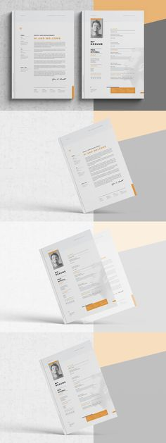 Pros Resume \ CV Templates InDesign INDD MS Word - A4 and US - simple resume template microsoft word