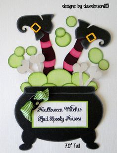 Halloween Witch Paper Piecing Set PreMade 4 Borders Scrapbook Album danderson651 in Crafts, Scrapbooking & Paper Crafts, Scrapbooking Pages (Pre-made) | eBay