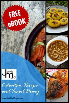 Free E-Book - Kelantan Recipe and Travel Diary - Jackie M Malaysian Recipes, Malaysian Food, Places To Eat, Tandoori Chicken, Chicken Wings, Tourism, Posts, Book, Ethnic Recipes