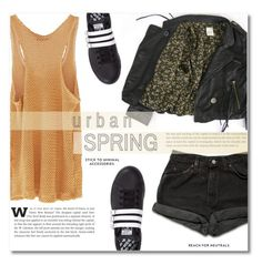 """""""~Urban Spring~"""" by dolly-valkyrie ❤ liked on Polyvore featuring Levi's and adidas"""