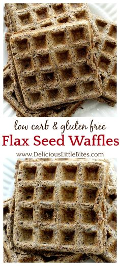 Finally! A Low Carb Gluten Free Flax Seed Waffles recipe! These turned out moist with crispy edges and remind me of whole grain waffles but without the carbs and gluten! Delicious with butter and/or syrup (sugar free if needed)!