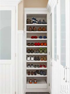Slide 8: Include Shoe Storage Shoe Storage Hacks, Shoe Storage Small, Closet Shoe Storage, Built In Storage, Closet Organization, Storage Spaces, Storage Hooks, Diy Storage, Shoe Closet
