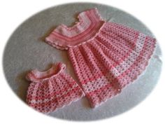 Gratis hækleopskrift - gurlimors.simplesite.com Crochet Girls, Crochet Baby, Toddler Dress, Baby Dress, Girls Dresses, Summer Dresses, Baby Born, Drops Design, Chrochet