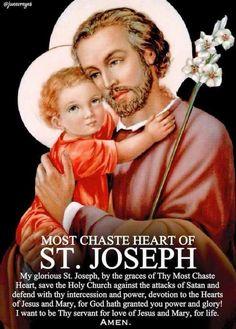 St Joseph Prayer, St Joseph Catholic, Catholic Saints, Saint Joseph, Roman Catholic, Catholic Quotes, Catholic Prayers, St Peregrine Prayer, Jesus Is My Friend