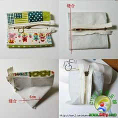 Patterns and ideas for sewing cosmetic bag – Artofit Sewing Hacks, Sewing Tutorials, Sewing Crafts, Sewing Projects, Sewing Patterns, Pouch Pattern, Patchwork Bags, Pouch Bag, Pouches