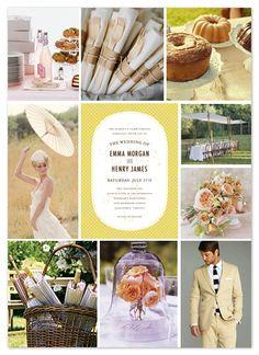 vintage picnic basket wedding boards