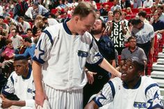 Penny, Skiles & Shaq On The Bench, '94.