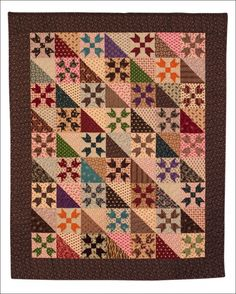 Another great scrappy civil war quilt  like the pattern