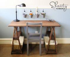 5 Super Cute Sawhorse Tables
