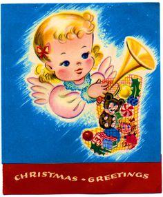 135 best vintage greeting cards images on pinterest vintage vintage greeting card retro christmas christmas angels vintage christmas cards modern christmas m4hsunfo