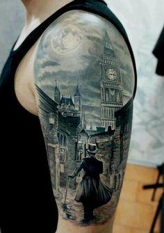 Victorian London tattoo