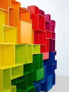 Parete attrezzata componibile modulare in MDF Parete attrezzata - Cubit by Mymito