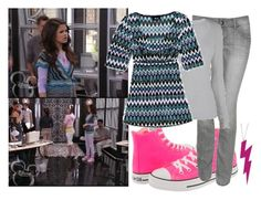 """Selena Gomez as Alex Russo"" by jacdewolfe ❤ liked on Polyvore featuring Disney, Converse, Diane Von Furstenberg, INDIE HAIR, wizards of waverly place, credit check, alex russo, wowp and selena gomez"