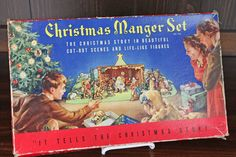 Vintage 1930s Christmas Manger Scene for by CashmereJellybean, $10.45