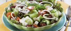 Kevennetty kreikkalainen salaatti | Alkuruoat | Reseptit – K-Ruoka Fruit Salad, Cobb Salad, Tacos, Ethnic Recipes, Food, Style, Food Food, Swag, Fruit Salads