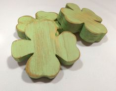 A personal favorite from my Etsy shop https://www.etsy.com/listing/218062251/wooden-shamrocks-distressed-wood