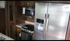 The kitchen inside the 2016 Jayco North Point 387RDFS LZ #fifthwheel