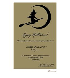 Halloween Party Invite - Customize the fonts and wording