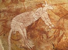 Maureen and I spent two days with a Monash University archaeology group visiting recently discovered Aboriginal rock art sites in Arnhem Land in Australia's Northern Territory. Like this superb kangaroo. Aboriginal Culture, Aboriginal People, Aboriginal Art, Australian Painting, Australian Art, Australian Animals, Tempera, Fresco, Kunst Der Aborigines
