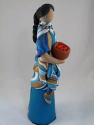 Southwest Navtive American Maiden Figurine by Clay by ClayTwister, $98.00