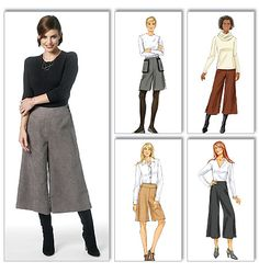 Misses' Culottes - oh how I love culottes! I hope they are making a comeback!