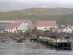 Stromness, a whaling station abandoned in 1961