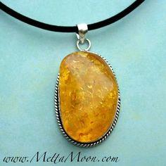 MettaMoon Amber Energy Pendant Necklace www.MettaMoon.com