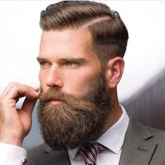 Razor Parted Undercuts With Beard