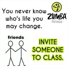 Invite Someone For Zumba class...