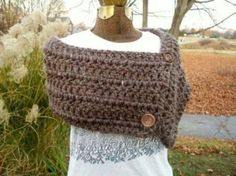 Crocheted button wrap by tracy.healy.7