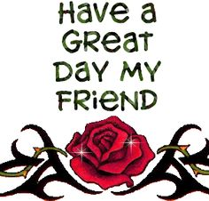 Have a great day!  ;)