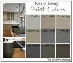 Today on my blog I shared nine of my favorite kitchen cabinet paint colors…