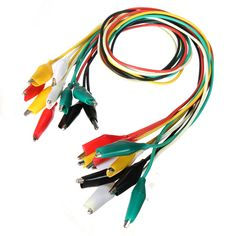 Description :     DANIU 10pcs 50cm Double-ended Crocodile Clips Cable Alligator Testing Probe Lead Wire    Specification :      Type : double-ended crocodile/alligator clips.  Colour : 5 colors (red, green, yellow, white and black).  Cable length : 50cm .  Quantity : 10pcs.        Package inlcudes :       10 x 50cm Double-ended Crocodile Clips Cable testing wire
