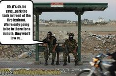 Military funny Tow away!