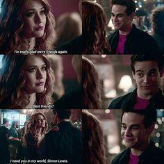 Clary & Simon #climon #friendship #shadowhunters
