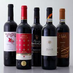 フランス、イタリア、スペインより。【秋の贅沢、ワンランク上のヨーロッパ赤ワイン5本セット】