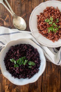 arroz preto e arroz vermelho, veja o que são e como cozinhar