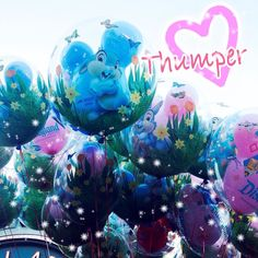One of my happiest moment I encountered on my last visit to Disneyland:: When I found a Thumper balloon(ღღ) !! I wish there was more Thumper goods at Disneyland I'd buy them all $9 for a Thumper balloon? Why not??   by kona2mocha3