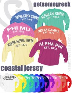 Sorority Sugar is thrilled to launch the GetSomeGreek JAMMIN JERSEY GIVEAWAY today!!!!    WIN a free sorority jersey AND a $200 discount for your entire chapter jersey order!!! 50 colors to choose from. 36 minimum shirt order - no maximum!    ✰ name your SORORITY & CHAPTER ~ winner will be randomly chosen from the chapter with the most entries!!     ✰ ENTER now & catch the coastal jersey fever:  http://www.sororitysugar.tumblr.com/giveaway