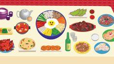 Ellen Wishart's Korean Food trend illustration for Time Out http://wishartellen.wix.com/portfolio