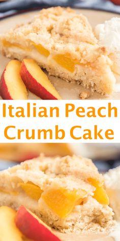 Peach Cake Recipes, Fresh Peach Recipes, Fruit Recipes, Snack Recipes, Dessert Recipes, Cooking Recipes, Recipes With Peaches, Peach Cookies Recipe, Peach Recipes Breakfast