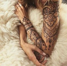 arm, beautiful, girl, henna, ink