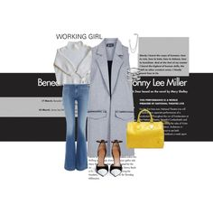 working girl waiting 4 spring by blcnblog on Polyvore featuring polyvore fashion style Vanessa Bruno Topshop Hudson Jeans Givenchy Louis Vuitton French Connection