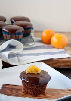 Chocolate Clementine Cupcakes with Candied Citrus Slices - Blogging Over Thyme