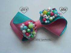 Бант из репсовой ленты МК/ Bow grosgrain ribbon DIY/ PAP Arco fita do grosgrain Tutorial - YouTube