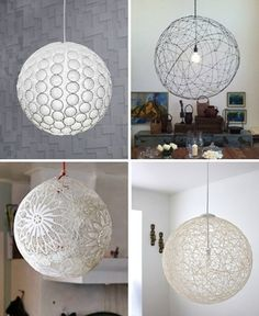 Different paper mache lights