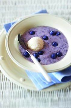 Frosted Blueberry Banana Soup