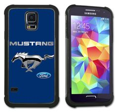 Maximum Protection Case / Cover with Cushioned Corners for Samsung Galaxy S5 - Ford Mustang - Chrome Pony (blue). Extreme Protection from drops and scratches in a slim line package. Soft rubber inner layer with hard plastic outer layer. Cushioned protection of vulnerable corner hits. Officially Licensed Product. Beautiful, high resolution printed back cover. Compatible with Samsung Galaxy S5. FREE SHIPPING.